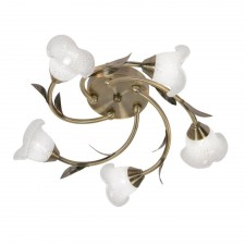 Carac Decorative Ceiling Light - 5 Light, Antique Brass