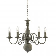 Greythorne 5 Light Ceiling Light - Textured Grey