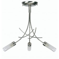 Oslo Bamboo Ceiling Light - 3 Light, Antique Chrome