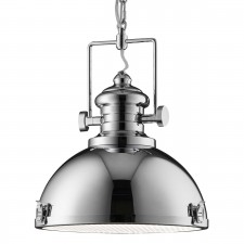Industrial Pendant - 1 Light, Polished Chrome