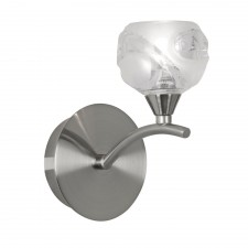 Korra Single Wall Light - Antique Chrome