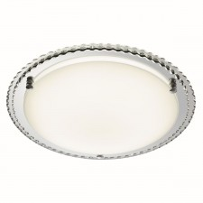 LED Decorative Flush Ceiling Light - 24 Light, Chrome with Mirrored Glass
