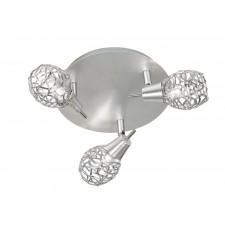 Distin Ceiling Spotlight - 3 Light, Chrome (Flush)