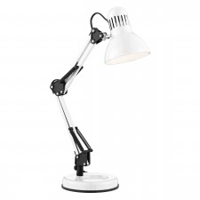 Desk Partners - Shiny White Hobby Table Lamp