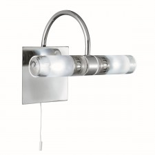 Chrome Bathroom Wall Light - 2 Light