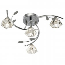 Sierra Semi Flush Ceiling Light - 4 Light, Chrome
