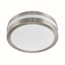 Outdoor/Porch IP44 Flush Fitting - 2 Light, Stainless Steel