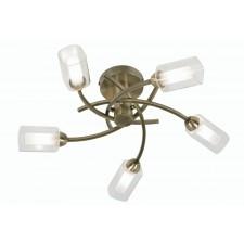 Oaks Lighting 2710/5 AB Ofira Antique Brass C/Light