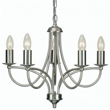 Oaks Lighting 2711/5 AC Loop Antique Chrome 5 Light