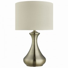 Touch Lamp - Antique Brass , Cream Shade