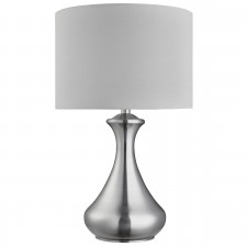 Touch Lamp - Satin Silver, White Shade