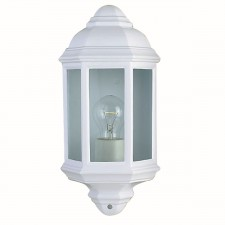 IP33 Outdoor/Porch Light - White & Glass