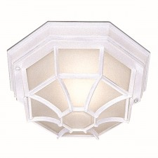 IP54 Outdoor/Porch Light - Acid Glass/White