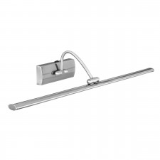 LED Switched Adjustable Small Picture Light - Satin Silver