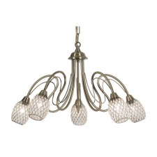 Askas Ceiling Light - 5 Light, Antique Brass