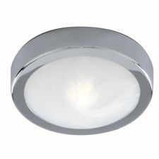 Flush Bathroom Light - Chrome & Glass IP44