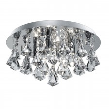 Hanna Flush Ceiling Light 4 lamp chrome