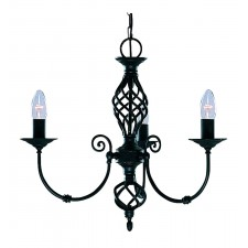 Zanzibar Ceiling Light - black 3 light