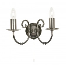 Tuscany Decorative Wall Light - 2 Light, Antique Silver