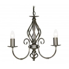Tuscany Decorative Ceiling Light - 3 Light, Antique Silver