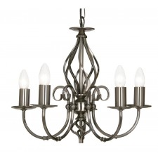 Tuscany Decorative Ceiling Light - 5 Light, Antique Silver