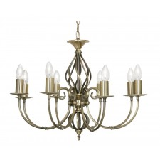 Oaks Lighting 3380/8 AB Tuscany Ses Pendant