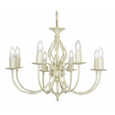 Oaks Lighting 3380/8 IV Tuscany Ses Pendant Ivory