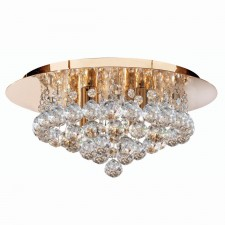 Hanna Flush Ceiling Light 4 Lamp Gold