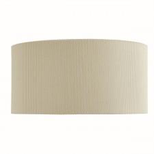 Drum Pleat - 2 Light Wall Bracket, Cream Pleated Shade