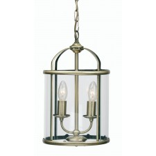 Oaks Lighting 351/2 AB Fern Lantern 2 X 60W Ses