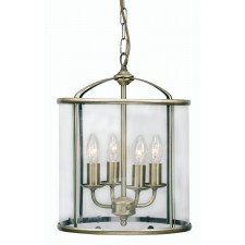 Oaks Lighting 351/4 AB Fern Lantern 4 X 60W Ses