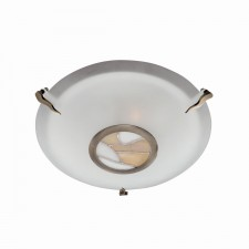 Tiffany Style Ceiling Light - Antique Brass
