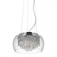 Alera Ceiling Light - 4 Light, Chrome, Glass