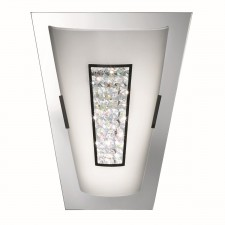 Decorative Crystal LED Wall Light - Chrome, Mirrored Glass