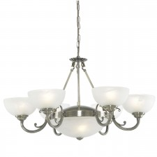 Windsor 8 Light Antique Brass Fitting-Marble Glass