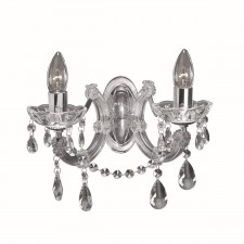 Marie Therese Wall Light Chrome & Crystal