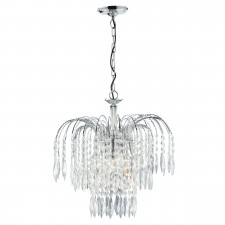 Waterfall Ceiling Light - Crystal & Chrome