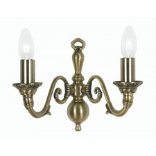 Oaks Lighting 4226/2 AB Amaro 2 X 60 Bc Antique Brass