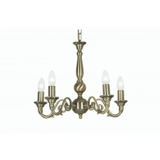 Oaks Lighting 4226/5 AB Amaro 5 X 60 Bc Antique Brass