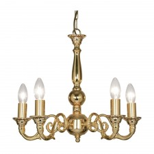 Amaro Decorative Ceiling Light - 5 Light, Gold Plate