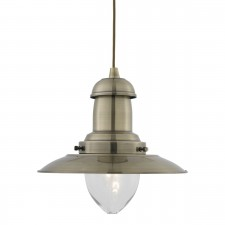 Fisherman Lantern Ceiling Light - antique brass