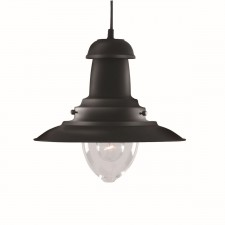 Fisherman Lantern Ceiling Light - black