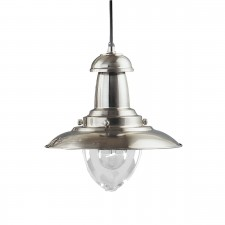 Fisherman Lantern Ceiling Light - satin silver