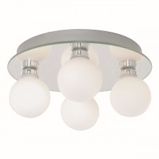 Globe 4 Light Flush Ceiling Light