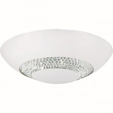 Halo - 8 Light LED Flush Ceiling Light - Matt White