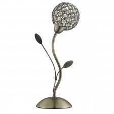 Bellis 2 Table Lamp - Antique Brass, Acrylic Beads