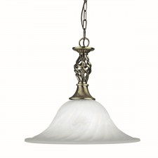Cameroon Ceiling Light - antique/marble glass