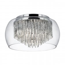 Alera Flush Glass Ceiling Light - 4 Light, Chrome