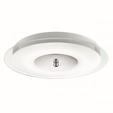 7W LED Flush Ceiling Light - Acid and Clear Glass