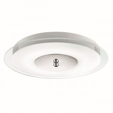 9W LED Flush Ceiling Light - Acid and Clear Glass